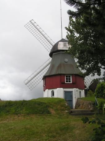 Amrum, Mühle, Nebel