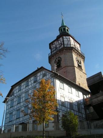Backnang, Turmschulhaus, Stadtturm